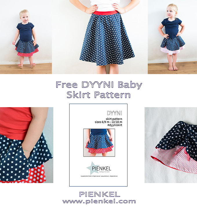 Pienkel Free DYYNI Baby Skirt Pattern - available at www.pienkel.com
