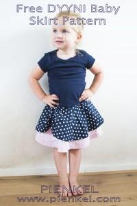 Pienkel Free DYYNI Baby Skirt Pattern - available in size 6/9 months through 12/18 months, at www.pienkel.com - available in size 2y through 16y in my Etsy store!