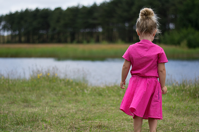Top Knot Tour - Top Knot Dress and Romper, pattern by Chalk & Notch, sewn by Pienkel