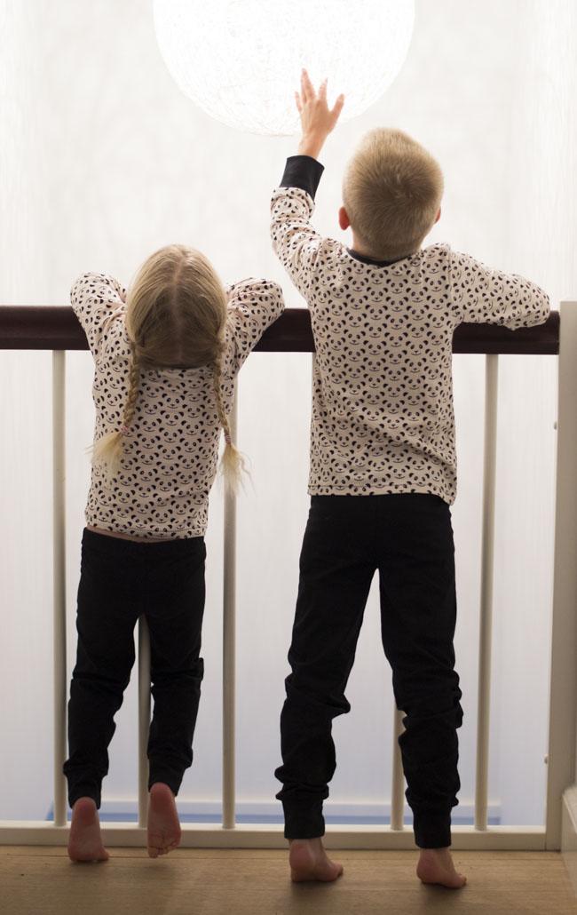 Panda PJ's - Pattern Alex&Anna Winter PJs by Peekaboo, sewn by Pienkel