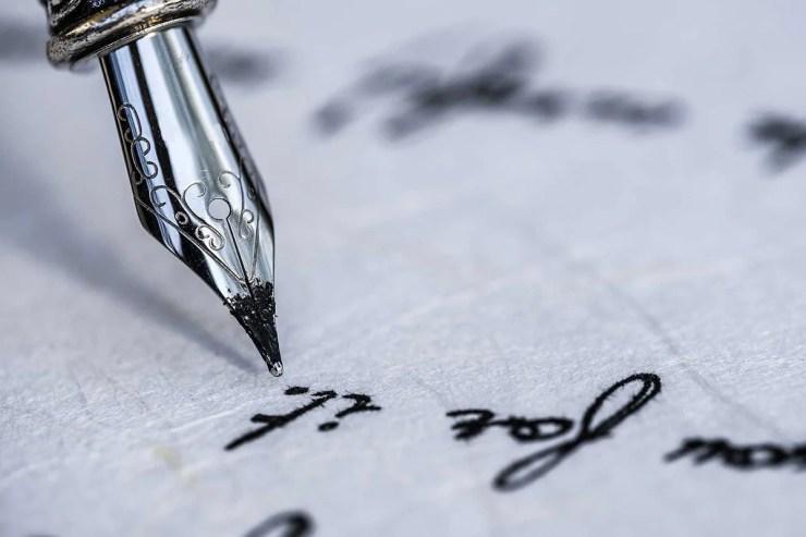 scrittura stilografica