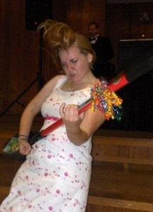 Not that I don't have a blast at weddings. Yes, that's me headbanging and playing the shovel.
