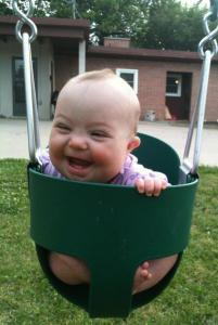 grinning Felicity