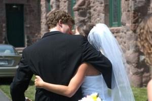 Bride groom excited