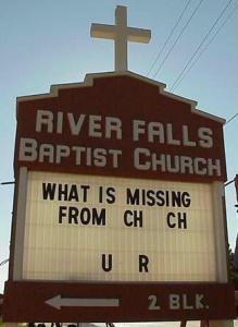 missing from Church