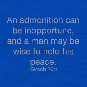 Sirach 20:1