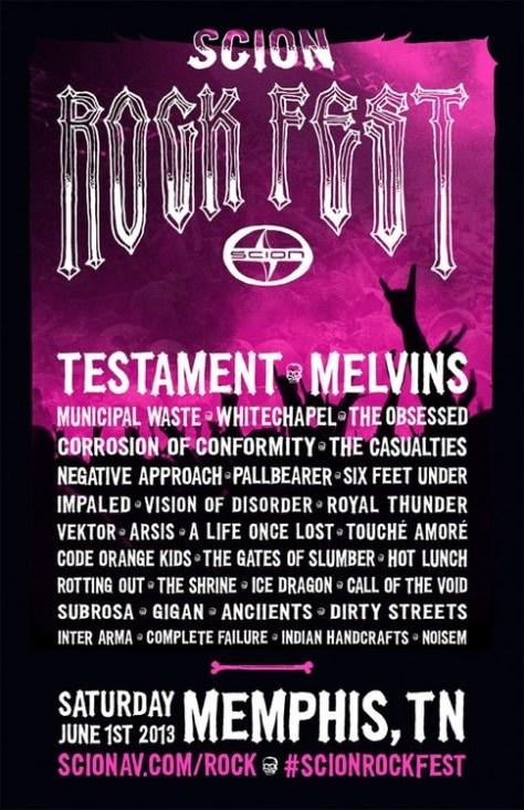 Poster - Scion Rock Fest - 2013