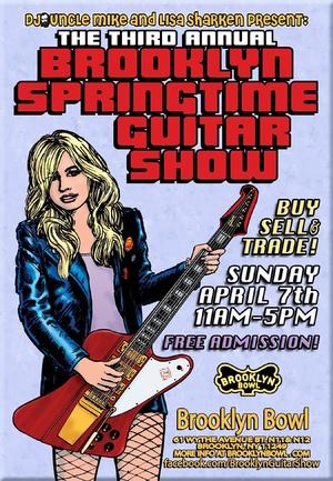 Poster - Brooklyn Springtime Guitar Show - 2013