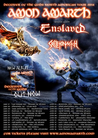 Tour - Amon Amarth - 2014