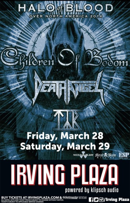 Poster - Children Of Bodom at Irving - 2014