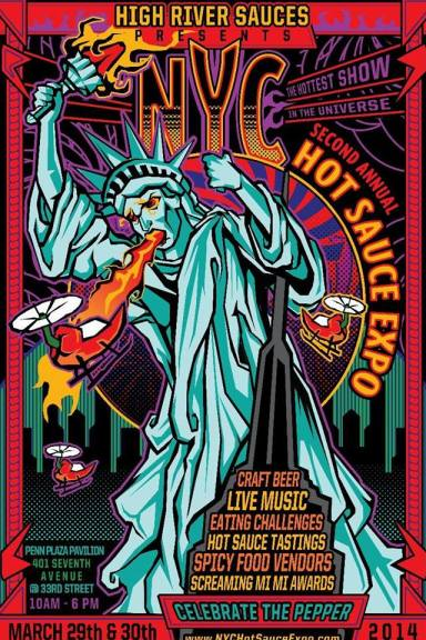 Poster - Hot Sauce Expo - 2014