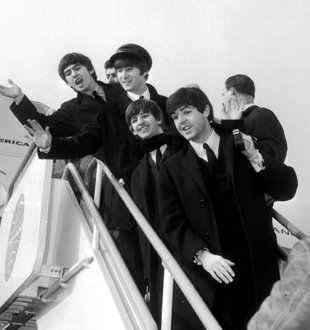 The Beatles Arrival at JFK (2/7/64) Photo h/t 1964 New York Times