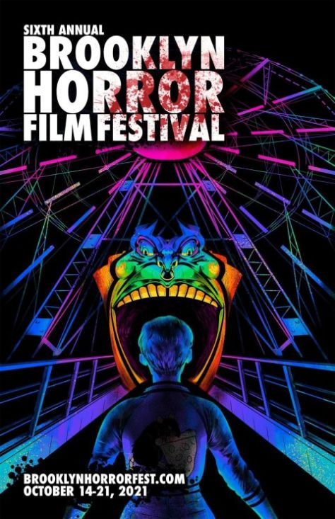 festival posters, promotional posters, brooklyn horror film festival, brooklyn horror film festival 2021