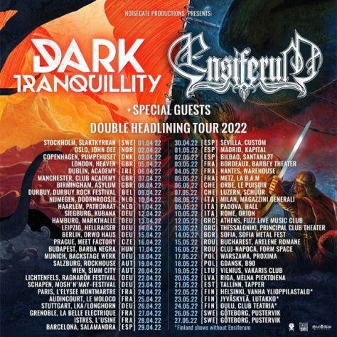 tour posters, promotional posters, dark tranquillity, ensiferum
