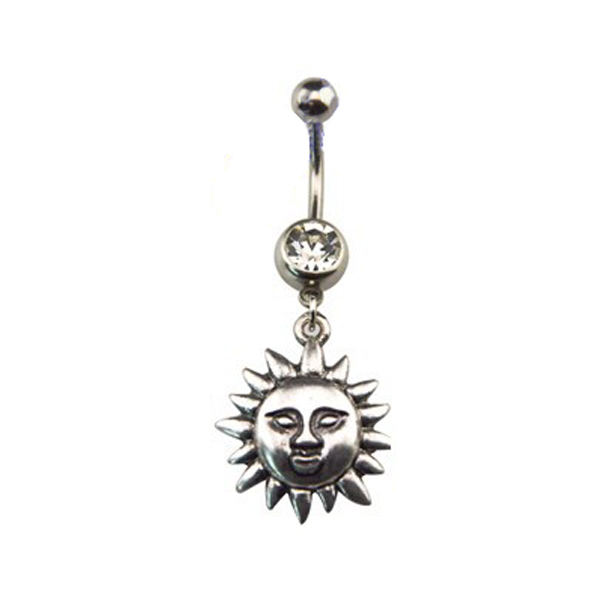 Fashion Göbek Piercing Ancient Sun
