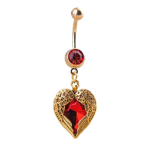 Fashion Göbek Piercing Golden Heart