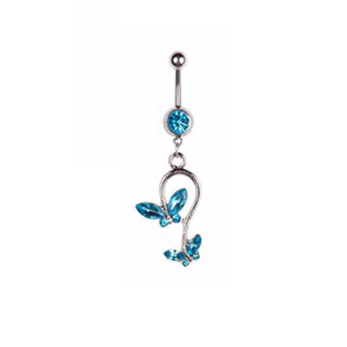 Fashion Göbek Piercing Twin Butterfly