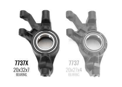 Traxxas - 7737X Blocchi sterzo