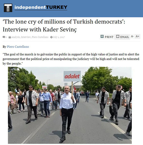 'The lone cry of millions of Turkish democrats': Interview with Kader Sevinç