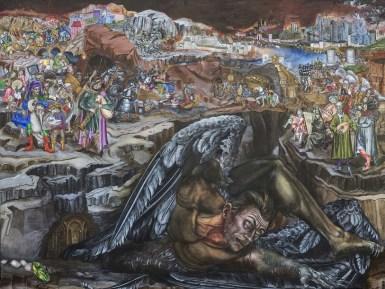 L'Angelo Caduto, 2005 - 160x135 olio e tempera vinilica