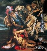 Variazione I da Conversione di S. Paolo di Caravaggio, 2000 tempera e olio su tavola, cm 200 x 180 collezione privata