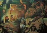 Il Pittore e il Male, 1982 olio su tela, cm 200 x 230 collezione privata