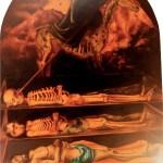 I tre stadi dopo la morte, 1985 olio su tavola, cm 250x200 collezione privata, Milano