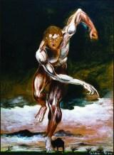 La Furia, 1997 acrilico su cartone, cm 14 x 23 collezione privata, Milano