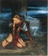 Opera al Nero (l'essenza del Male in Macbeth), 1999 acrilico su cartone, cm 27 x 30 collezione privata