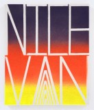 Nice Van - 2015, Spray paint on canvas, 12 x 10 inches