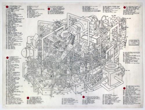 "Justin Amrhein - ""Cicada Engine,"" 2014, Graphite and acrylic on mylar, 18 x 24 inches"