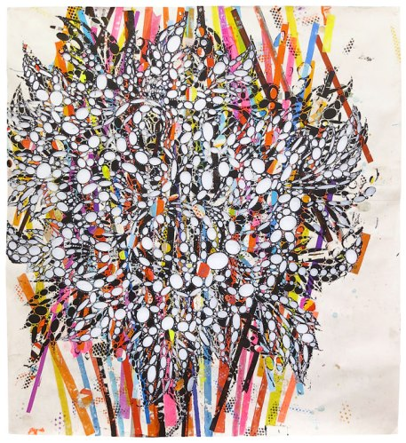 "Reed Anderson - ""The Ape,"" 2013-2014, Acrylic and collage on cut paper, 77 x 72 inches"