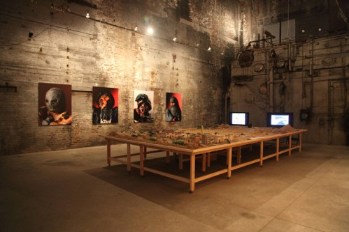 "Brian Conley - ""Miniature War in Iraq,"" 2010, Installation View at The Boiler"