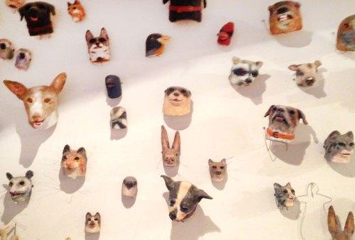Michael Ballou - Masks, 2015, Installation View