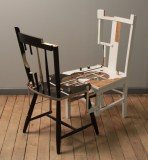 Jean Blackburn - Untitled, 2014, Wooden chairs, paint, stain, varnish, glue, 38 x 18 x 36 inches
