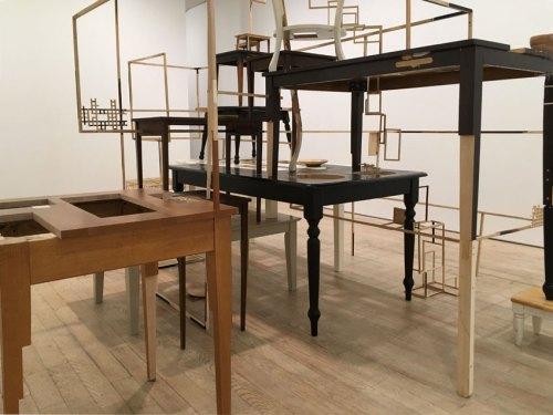 """Jean Blackburn - """"Feed,"""" Installation View, Pierogi 2018"""