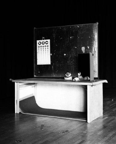 "Nadja Bournonville - ""Augenhöhle,"" 2014, Analog black and white print on baryt paper, Edition 1/2 + 1AP, 50 x 40 cm"