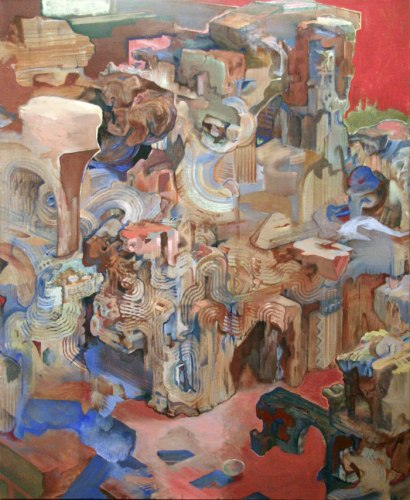 I Am the Eggman (14) - 2011, oil on linen, 25 x 30 inches