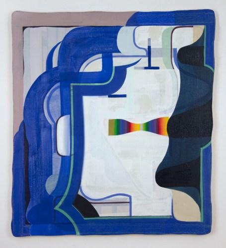 """Tom Burckhardt - """"Spectral,"""" 2017, Oil on linen, 30 x 27 inches"""