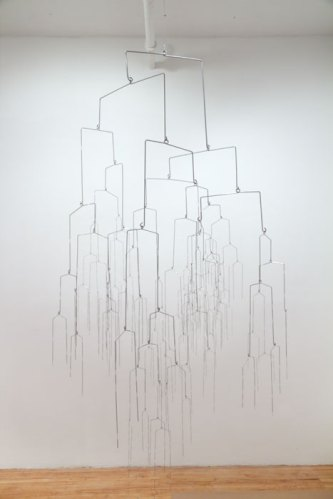Beth Campbell - There's No Such Thing as a Good Decision (Glaze), 2009-14, Painted powdered steel rod and wire, Approx. 84 x 42 x 42 inches