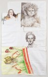 "Dawn Clements - ""Faces and My Kitchen,"" 2014, Watercolor on paper, 92 x 56 inches"