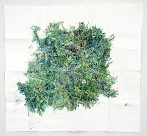 Grass - 2013, Watercolor on paper, 30.75 x 33 inches. Sold