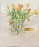 Tulips - 2014, Watercolor on paper, 65 x 53 inches
