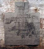 Ruin - 2009, Sumi Ink on Paper, 143 x 116 inches