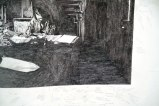 Barny's (Leon Morin, Priest, 1961) Detail - 2011, ballpoint pen ink on paper, 36 x 57 inches