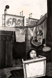 Hugo Crosthwaite - Clown Girl, 2012, Acrylic on paper, 8.5 x 5.5 inches