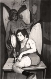 Hugo Crosthwaite - Lolipop, 2012, Acrylic on paper, 8.5 x 5.5 inches