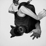 Scream - 2009, Graphite and Charcoal on Canvas, 24 x 24 inches