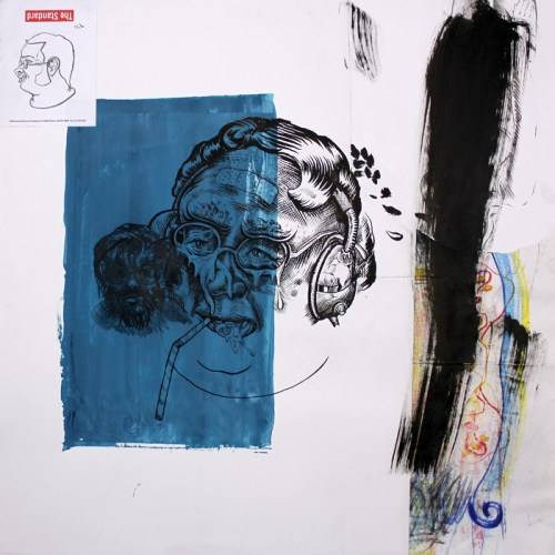 The Standard - 2014, Mixed media on paper, 24 x 24 inches