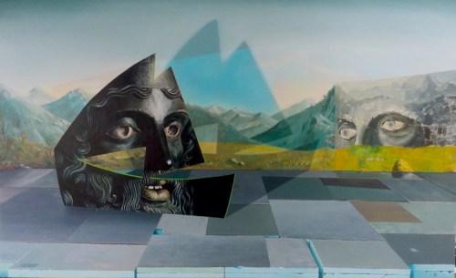 Kirsten Deirup - Warrior Ark, 2015, Oil on linen over panel, 30 x 40